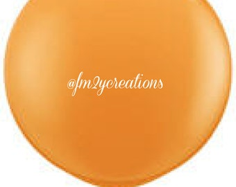 """36"""" Round Balloon Orange   3 Foot Round Balloons   3' Round Latex Balloons   Baby Bridal Shower   Large Solid Color Latex Balloon"""