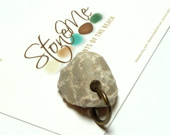 Beach Stone Pebble Bead UNCHAINED MELODY Rare Fossil Chain Coral Pendant Jewelry Bead River Rock Organics Natural Artisan Charms