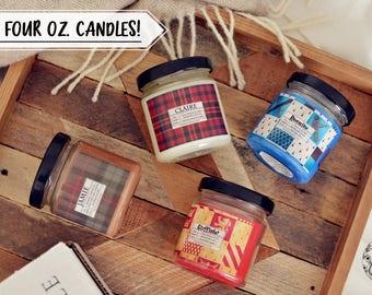 Pick 4 Sampler Candles - 4 oz. Bookish Candles