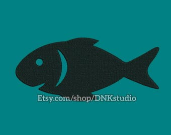Fish Embroidery Design - 6 Sizes - INSTANT DOWNLOAD