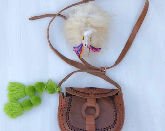 Mexican leather crossbody bag, mexican leather, mexican bag, mexican purse, Chiapas, tooled leather crossbody bag, leather crossbody bag