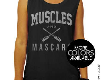 Muscles and Mascara Muscle Tank - muscle tee, workout tank, workout tank top, workout shirt, gym tank top, womens workout tank, gym tank
