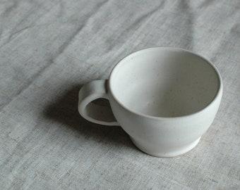 Oatmeal Speckle Stoneware Rustic Cup Mug