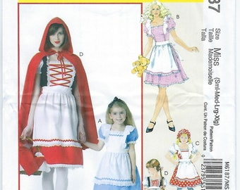 McCalls 6187 - Girls' Storybook Costumes / ADULT Sizes S, M, L, XL