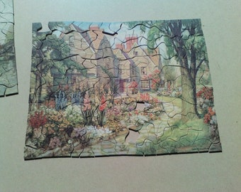 2 vintage jigsaw puzzles royton for crafts
