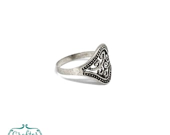 Tuareg Bohemian Sculpted Ring, Handcrafted