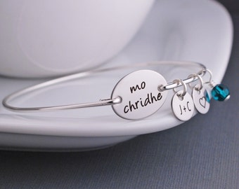 Mo Chridhe Bracelet, Outlander Jewelry, Anniversary Gift, Gaelic Bracelet, My Heart Bracelet, Scotland Jewelry, Custom Celtic Jewelry