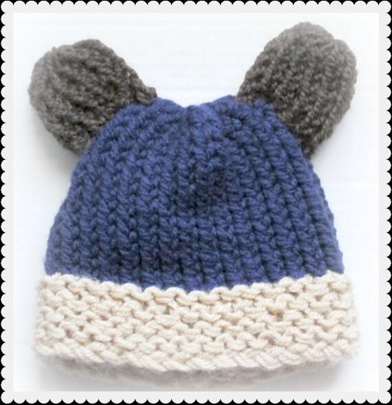 Baby Bear Hat Loom Knit Pattern