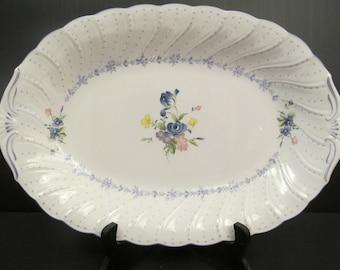 NIKKO Japan Fine Tableware BLUE PEONY Oval Serving Platter & Nikko tableware | Etsy