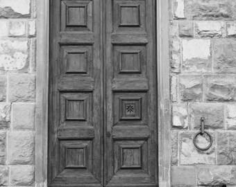Rome Doors Black & White Photo, Doors Photography, Instant Download, Art Prints, Decor, Digital Download, Doors Art, Print