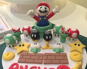 Fondant Mario Kart Cake Topper