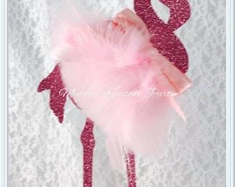 Flamingo Theme Party - Flamingo Cake Topper - Flamingo Party Decor - Flamingo Party Decorations - Flamingo Birthday Party Cake Topper