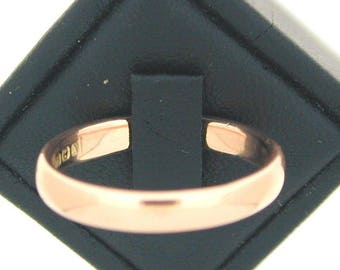 Art Deco 1922 9ct Rose Gold Wedding Band size R
