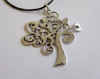 Tree of Life Charm On Wax Cord Adjustable Unisex Free UK Shipping + Gift Bag CH3