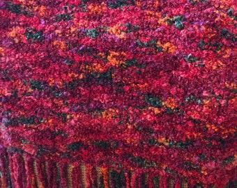 "Hand-Knit Prayer Shawl- ""Summer Sunrise"""