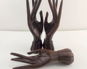 Vintage Wooden Hand Model / Drawing / Articulated Hand / Lotus / Mudra / Hand carved