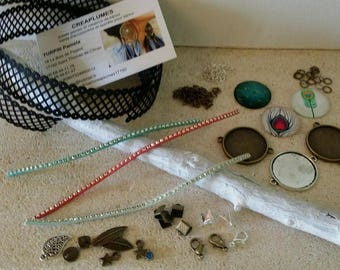 Kit 3 Creating bracelets lace feather with instructions. Novelty