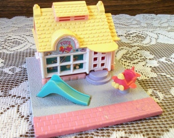 Vintage Polly Pocket Toy Story Shop House Bluebird Polly Dollhouses - No Dolls
