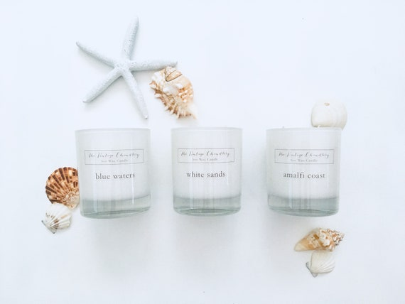 Boutique one wick soy candle finished with dried flora