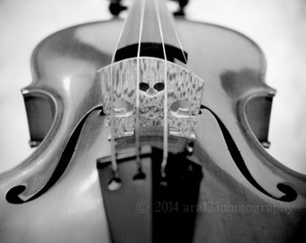 40% OFF SALE Monochrome Violin Photography, Still Life Photo, Black and White, Musical Wall Art, 8x8 inch Fine Art Photography Print