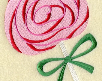 Ginat Pink Lolly Pop Lollipop Embroidered Flour Sack Hand/Dish Towel