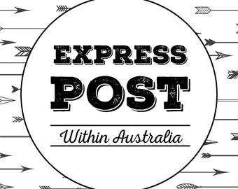 Express Post your order, within Australia only