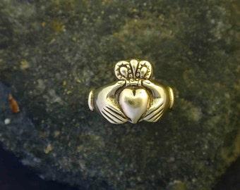 14K Gold  Claddagh Irish Wedding Ring