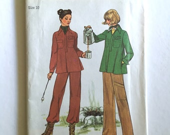 Vintage Sewing Pattern Women's 1970s Uncut, Simplicity 7717 Pants, Pullover Tops (XS)