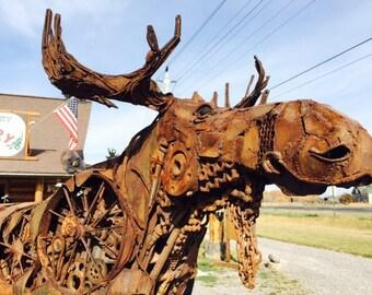 Rusty the metal moose!