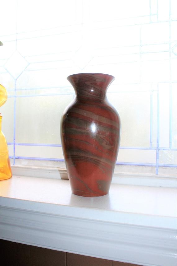 Vintage Niloak Vase Swirl Pottery Mission Ware