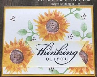 Thinking of You blank notecard