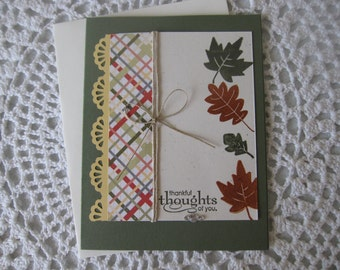 Handmade Greeting Card: Fall/Thinking Of You/Thanksgiving