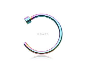 Colorline Basic Nose Hoop Ring - Rainbow