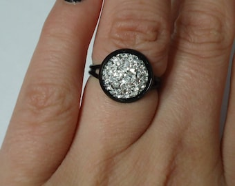 Faux Druzy Ring, Faux Druzy Jewelry, Faux Druzy, Statement Ring, Druzy Jewelry, Druzy Ring, Adjustable Ring, Classy Ring, Classy Jewelry,