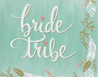 Bride Tribe Napkins / Bride Tribe Small Napkins / Bachelorette Party Napkins / Bride Tribe