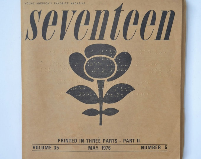 Braille 1976 Seventeen Magazine for the Blind