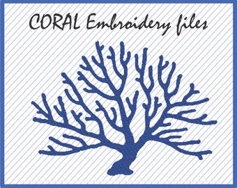 Coral Design for Embroidery Machine - pes - dst - jef - hus - vip - vp3 - esp - xxx -PES Embroidery File -Dst Embroidery file -Coral Design