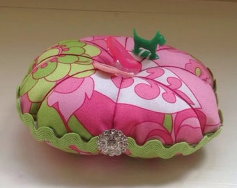Vintage Barbie Lilly Toys Pincushion Handmade Buttons
