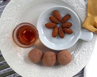 Rich Dark Chocolate Amaretto Truffles (16 count)