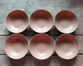 SALE! Vintage Melamine Dinnerware Plates and Bowls Light Brown 12 Piece Set Mid Century Melmac Plates and Bowls Melamine