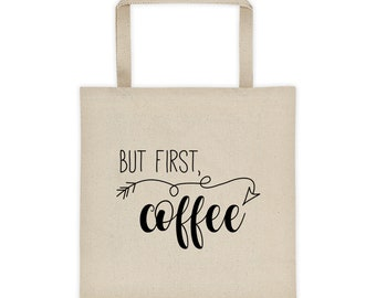 But First Coffee, Tote bag, Crazy Girl Brain