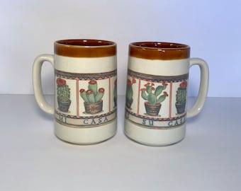 Otagiri 'Mi Casa Es Su Casa' set of 2 tall mugs