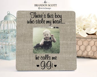 Mother's Day Gift for Gigi Grandma Nana Grandmother Gift Personalized Picture frame, Grandma Frame, Gigi Gift from Grandson, Theres this boy