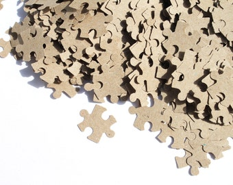200 Personalised Puzzle Confetti / Customized Puzzle/ Various Colours / Rustic Wedding, Table Decor