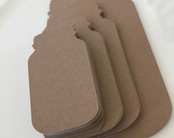 "Mason Jar Die Cut Shapes Kraft 65lb Cardstock 2""-2.5""-3""-4"" Kraft Jar Shapes Die Cut Shapes Mason Jar Tags Kraft Tags Mason Jar Cut Outs"