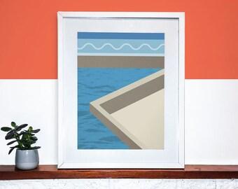 Geometric Wall Print, Pattern Interior Art | Contemporary Print, Graphic Pattern Art