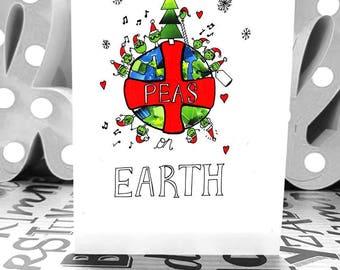 Peas on Earth - A6 - Christmas Card