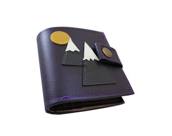 Mountains ) Bifold Wallet With Snap (Plus Zipper)