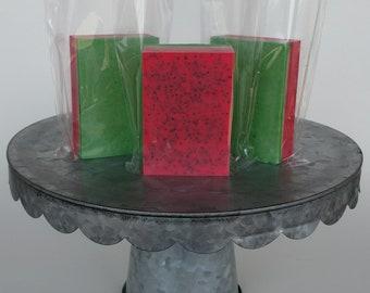 Watermelon Exfoliating Goat Milk Soap, Goat Milk Soap, Handmade Soap, Natural Soap, Bar Soap, Colorful Soap, Artisan Soap, Cake Soap