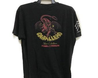 RARE POWELL PERALTA x Steve Caballero Bones Brigade Mark Gonzales size L Big Logo spell out